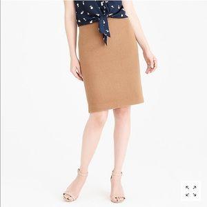 J. Crew Pencil Skirt in Double-Serge Wool